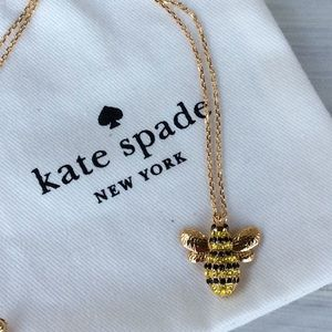 Kate Spade Pave Queen Bee Necklace